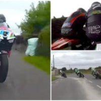 Competição de moto a mais de 250km/h em ruas estreitas