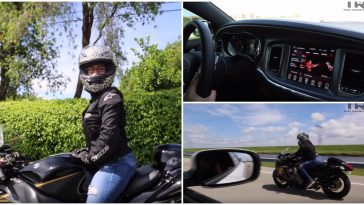 Mulher em uma Suzuki Hayabusa DÁ BAILE em homens com carros