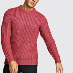 Drop Shoulder Fisherman Stitch Knitted Jumper