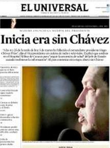 Muerte de Chavez- El Universal-Caracas