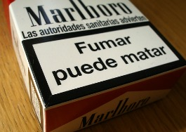 Cajetilla de cigarros - advertencia 265x188
