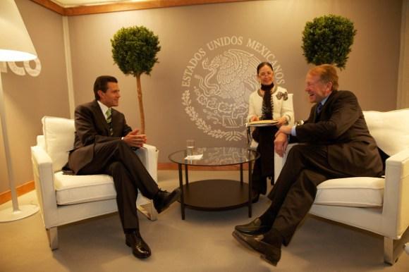El Presidente Enrique Peña Nieto y el CEO de Cisco, John Chambers