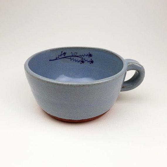 blue mug bird