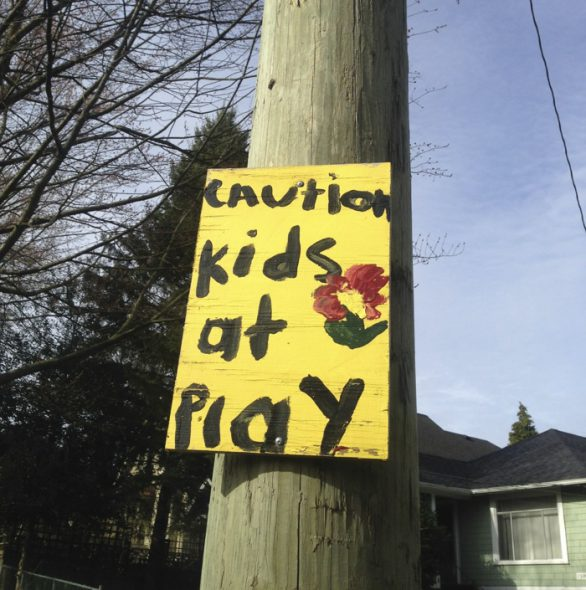 caution kids at play