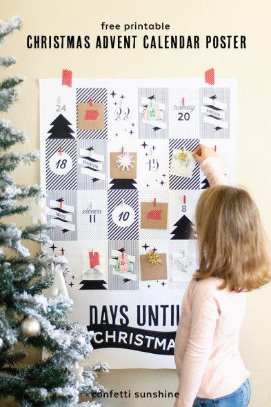 diy-christmas-advent-calendar-with-free-printables-black&white