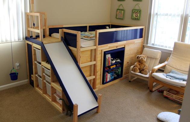Tenda Per Letto A Castello Ikea : Idee per trasformare il letto kura di ikea mercatino dei piccoli
