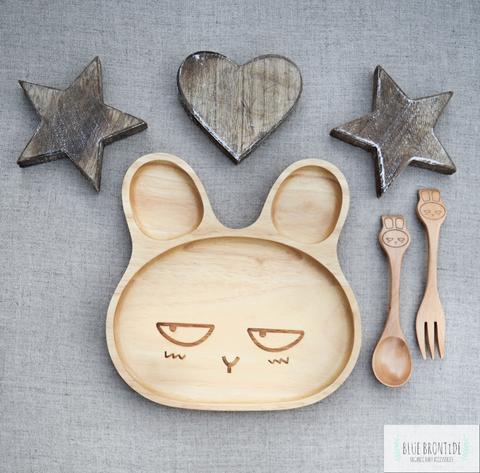 piatto legno coniglio arrabbiato