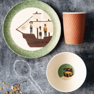 Love Mae: piatti in bamboo per bambini