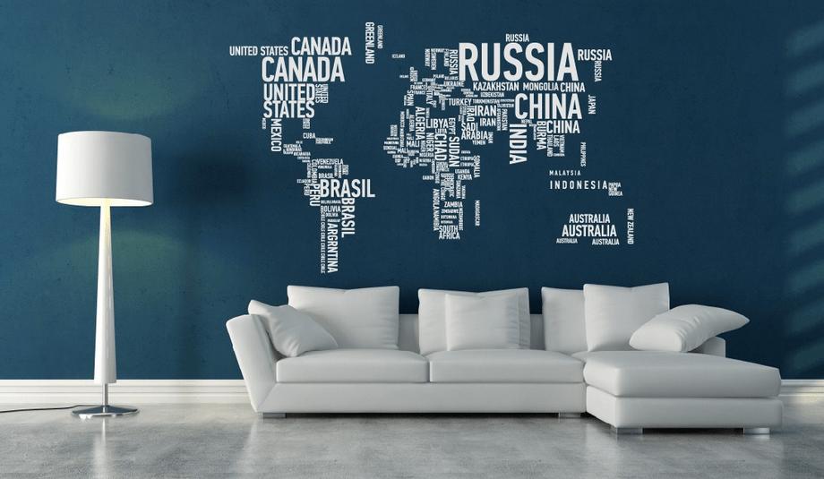 mappa politica per decorare le pareti