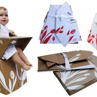 E questo ci mancava: il seggiolone in cartone riciclato