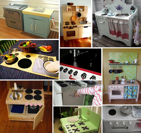 Cucina giocattolo: dieci esempi di cucine giocattolo fai da