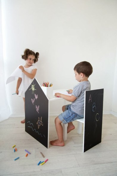 duepuntispazio- tavolo e sedia lavagna