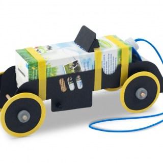 Automobile giocattolo in Kit: Rubber Band Car