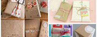 Pacchetti e decorazioni per la tavola di natale #lilAvvento