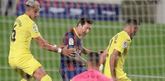 Lionel Messi in the Barcelona and Villarreal match