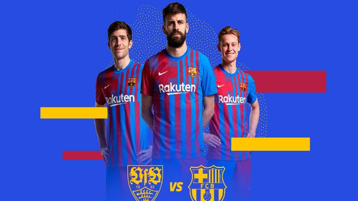 جدول مواعيد مباريات برشلونة التحضيرية لموسم 2022/2021 (صور:twitter)