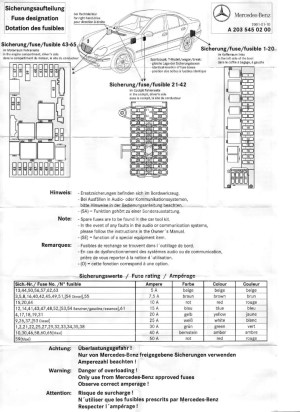 2001 C240 Fuse Diagram | Online Wiring Diagram