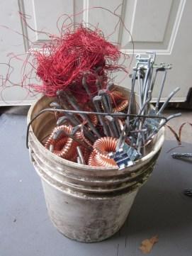 A bucket of treasure from the scrap metal yard!