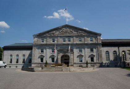 Rideau Hall from the front - it is a huge amazing house.