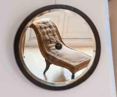 Espejo circular años 40