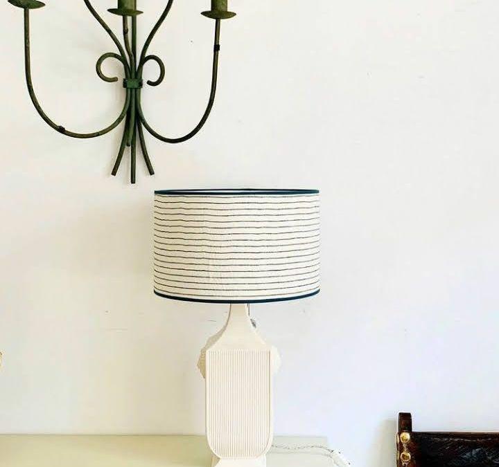 Lámpara en loza