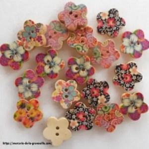 réf 05-b-15-005 bouton forme fleur multicolore