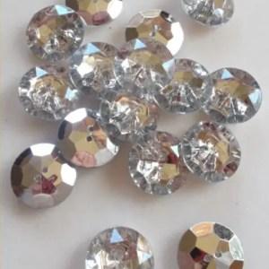 réf 05-a-25-012 bouton à facettes argenté