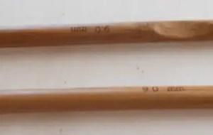 crochet en bambou n 9