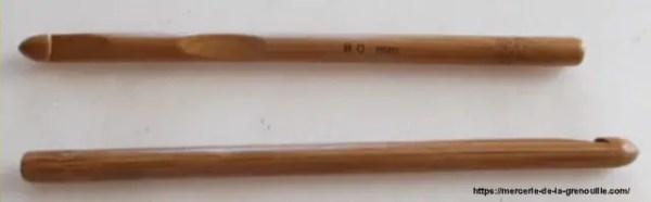 crochet en bambou n 8