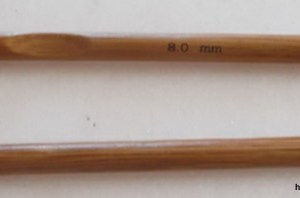 réf 02-02-08 crochet en bambou n 8