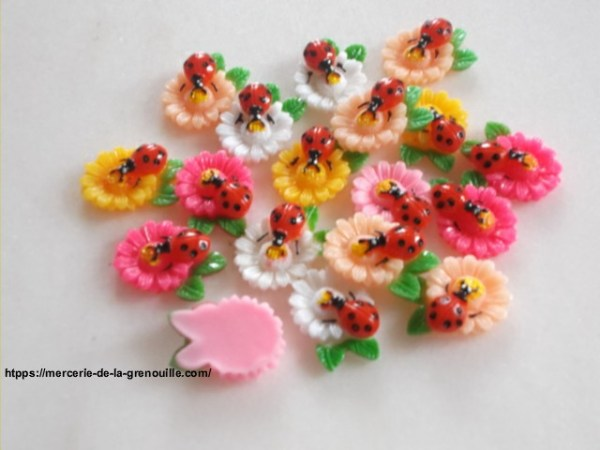 bouton scrapbooking coccinelle