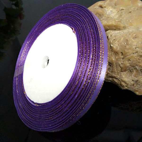 ruban satin 6 mm violet