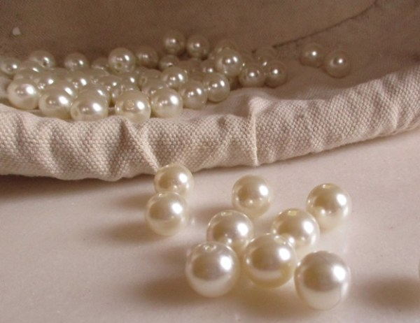perles blanches 12 mm