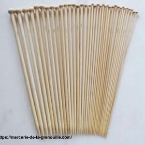 réf 01-b-100 aiguilles en bambou 36 cm n 10