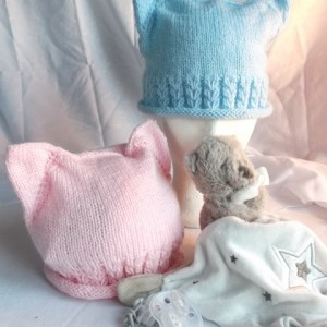 bonnet bébé oreille de chat