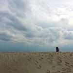 gloria on beach