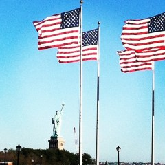 Flags and Lady Liberty