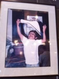 Vito Casano at age 5 tossing pizza dough.