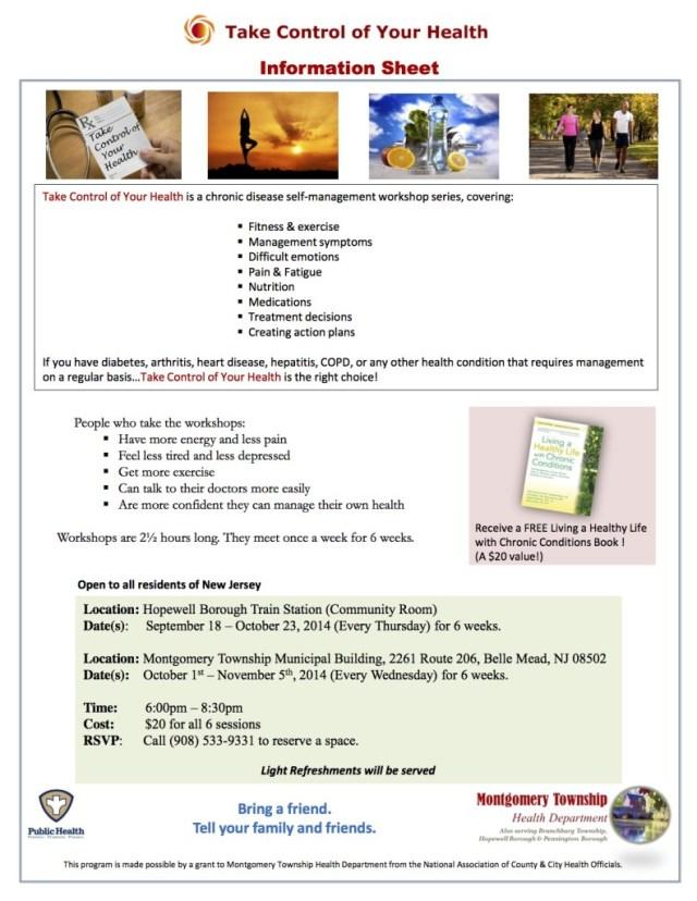 CDSMP - Patient Information Sheet 2