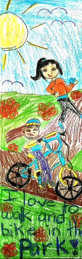 Artwork by winner Angelika Gorecka, a 3rd grade student at Slackwood Elementary School, Lawrenceville NJ