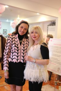 Sara Cooper (left) and Linda Martin (right, owner of Flutter Boutique)