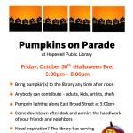 Pumpkins on Parade poste4r 2015
