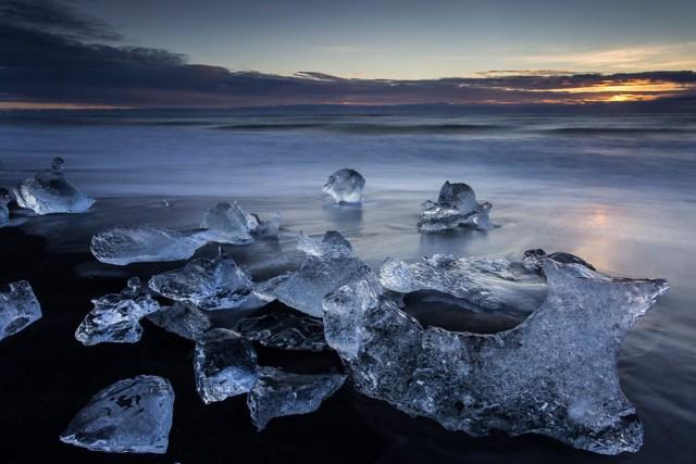 """Ice in Ocean"": Photo credit Bennett Povlow"