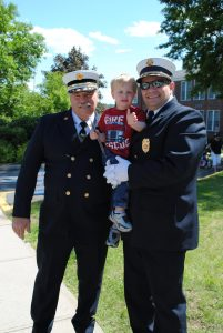 Hopewell Fire Department & Emergency Medical Unit Chief Joe Novak; his dad, driver, training officer and former chief John Novak Sr., and the next generation, Joe's son Landon, age 6
