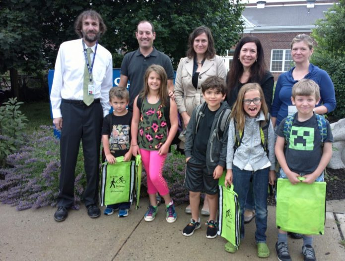 "Hopewell Elementary Walking Group Wins the ""Step into Spring"" Contest"