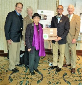 (L-R) Mike Winka, Pam Mount, Teresita Bastides-Heron, Councilman Chris Bobbit, Don Little of Lawrence Township Green Team.