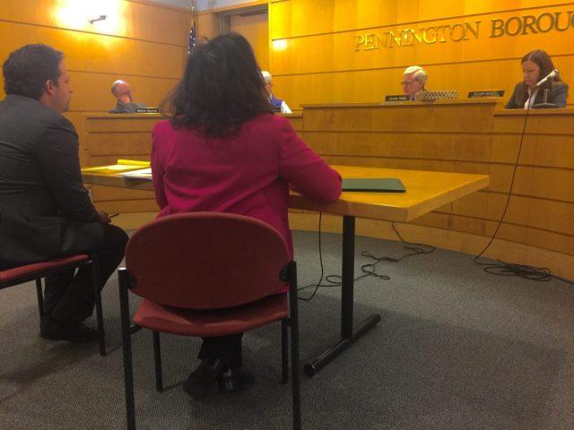 Angela Witcher speaks to planning board