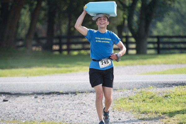 Man Carrying Weight of the World Water Crisis Across US Starts in Princeton