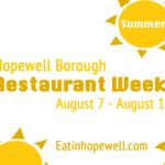 Hopewell Borough Restaurant Week Summer 2017