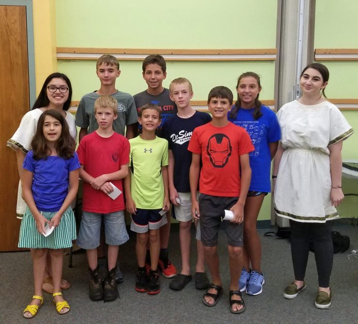 Two Princeton Day School students give lessons in Latin